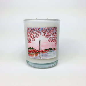 CHERRY BLOSSOM FESTIVAL. Japanese Cherry Blossom Coconut Wax Blend Candle.