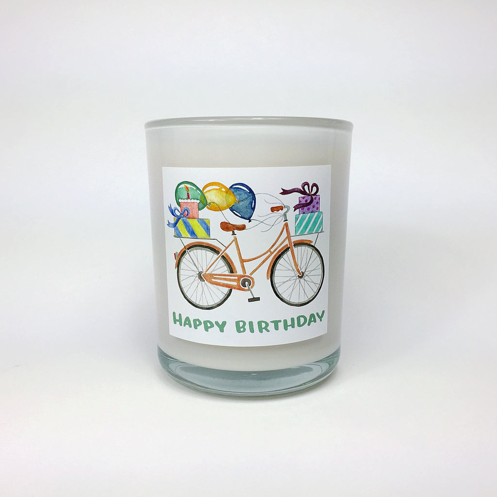 HAPPY BIRTHDAY. Vanilla Cake Coconut Wax Blend Candle.