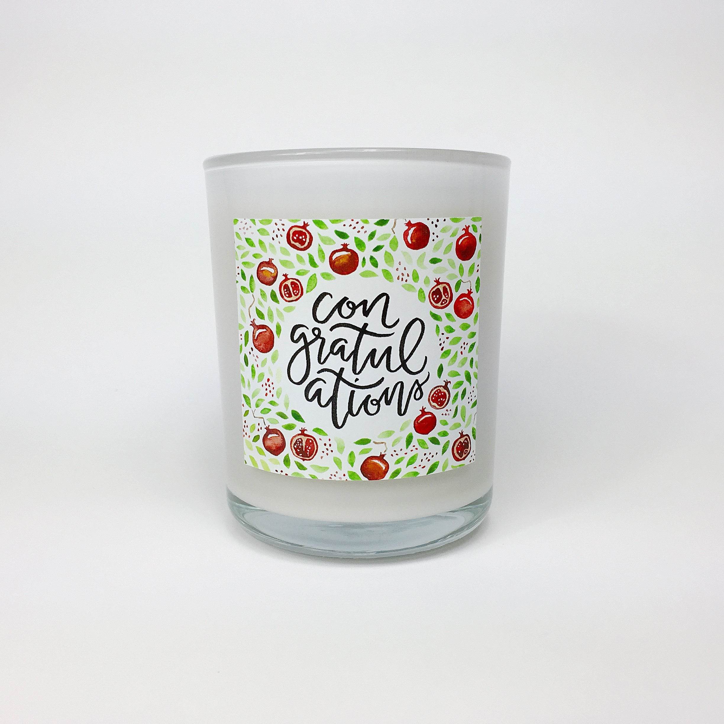 CONGRATULATIONS. Sparkling Pomegranate Coconut Wax Blend Candle.