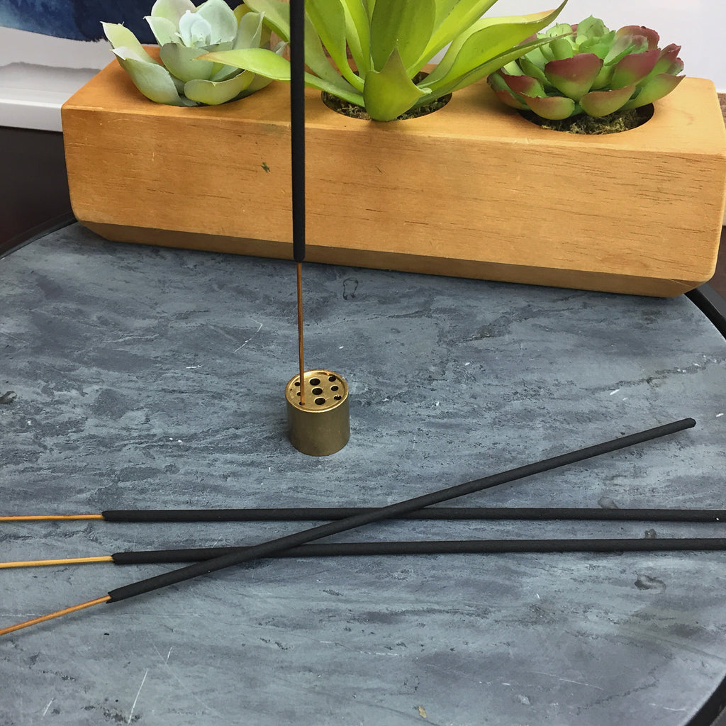 INCENSE HOLDER. 9-Hole Copper Incense Holder.
