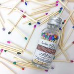 Banter & Bliss™ Match Bottle with Striker · 60 Rainbow Multi-Color Safety Matches