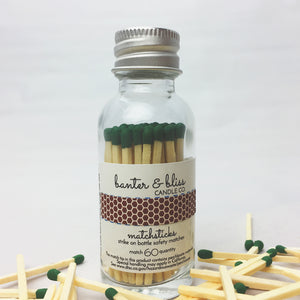 Banter & Bliss™ Match Bottle with Striker · 60 Hunter Green Safety Matches