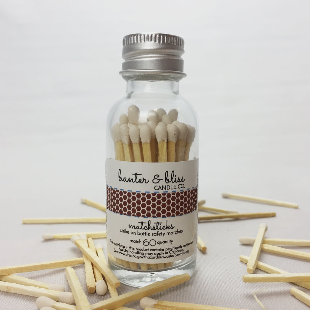 Match Bottle with Striker · 60 White Safety Matches