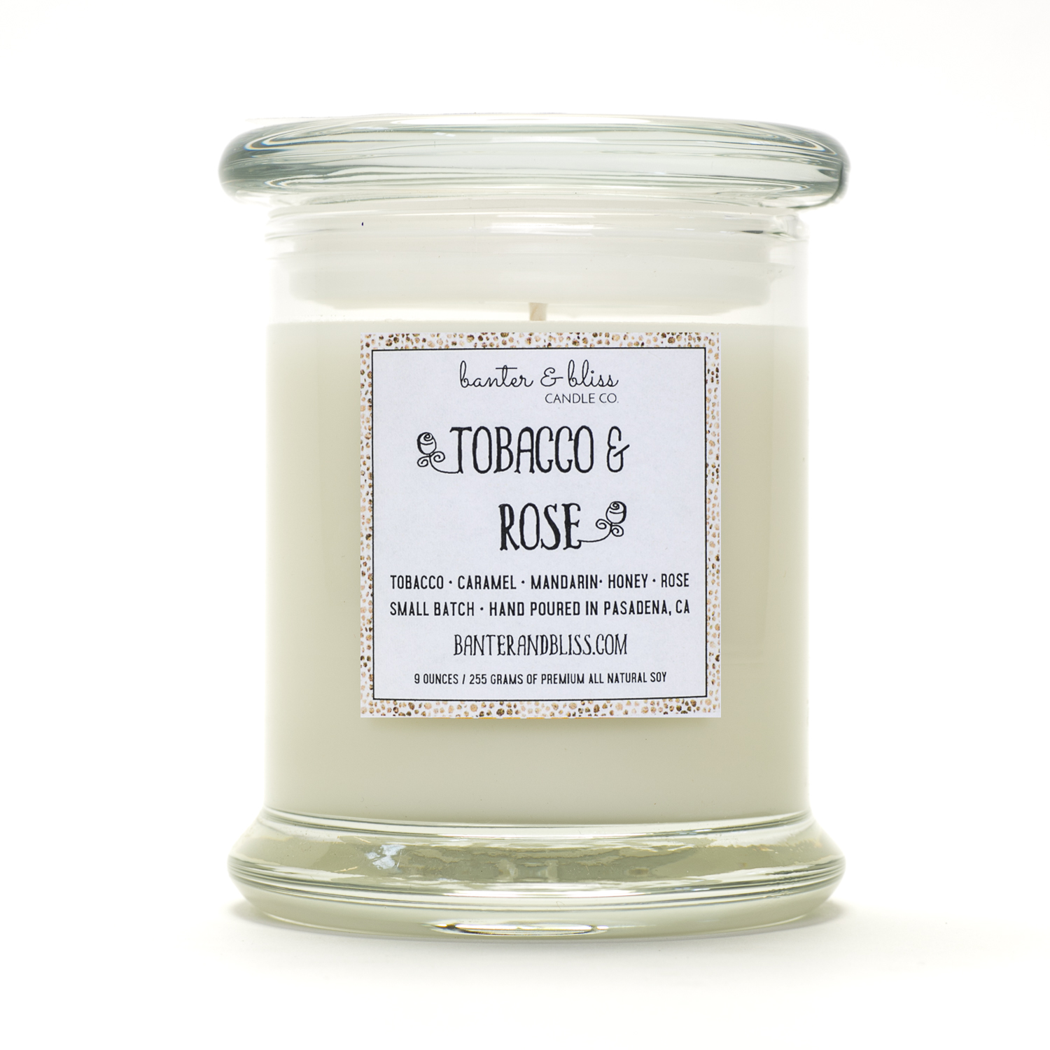 TOBACCO & ROSE. Coconut Wax Candle.