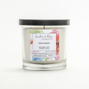 PINK PEONY. Coconut Wax Candle.