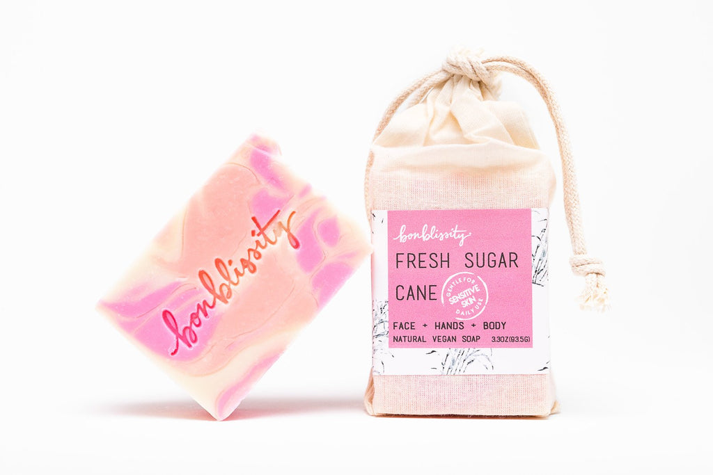 FRESH SUGAR CANE. Vegan Soap by Bonblissity.