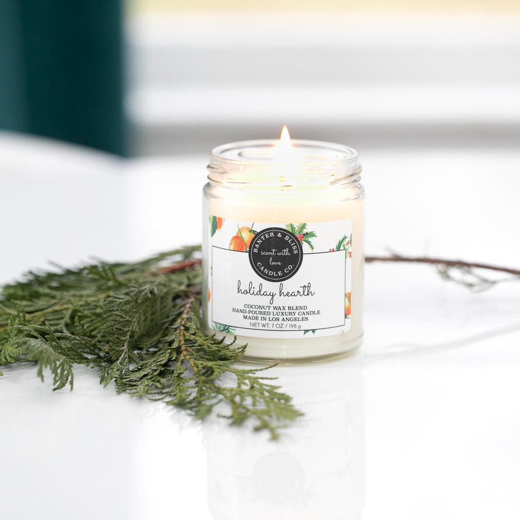 HOLIDAY HEARTH. Premium Coconut Wax Candle.