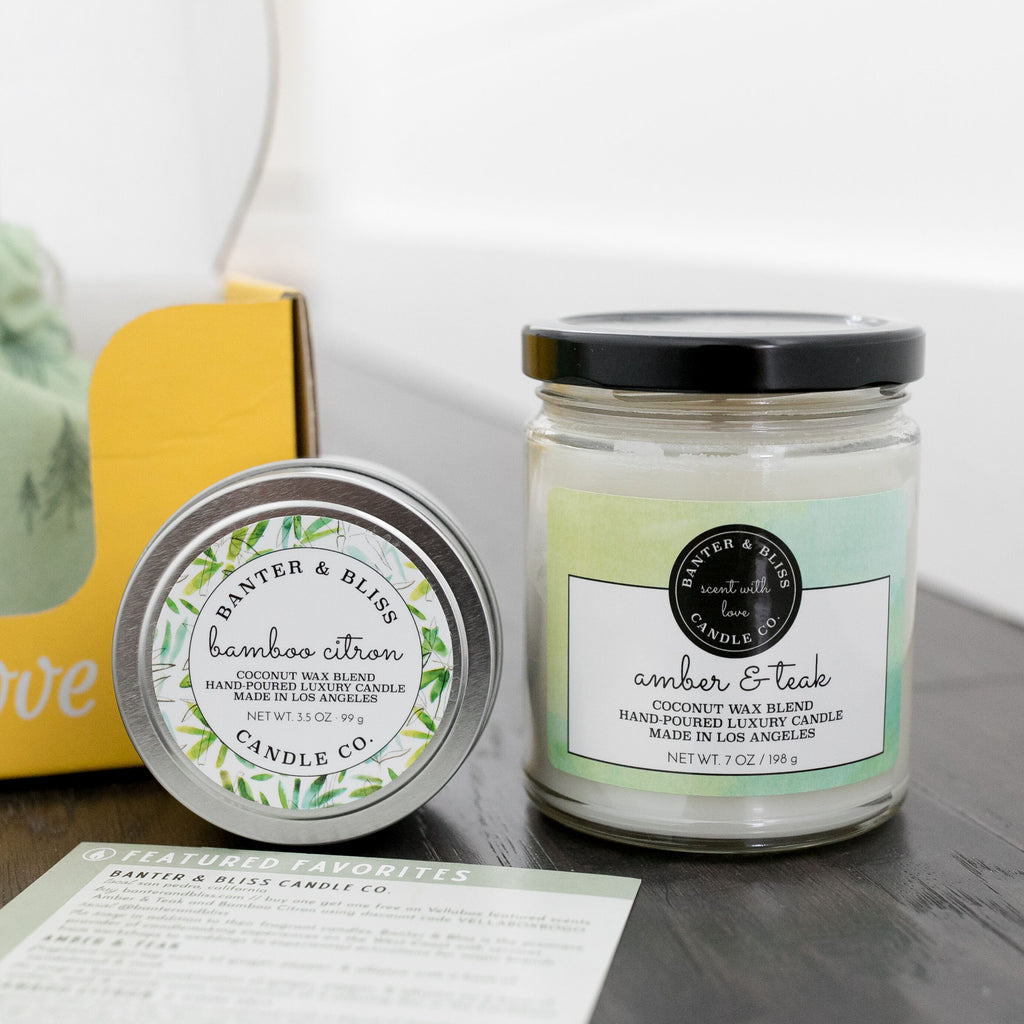Bamboo Citron Premium Coconut Wax Candle