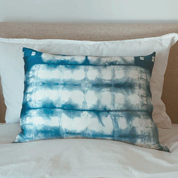 Indigo Blocks Silk Pillowcase