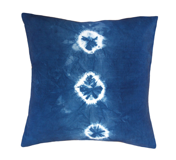 Indigo Shibori Triple Gem Pillow