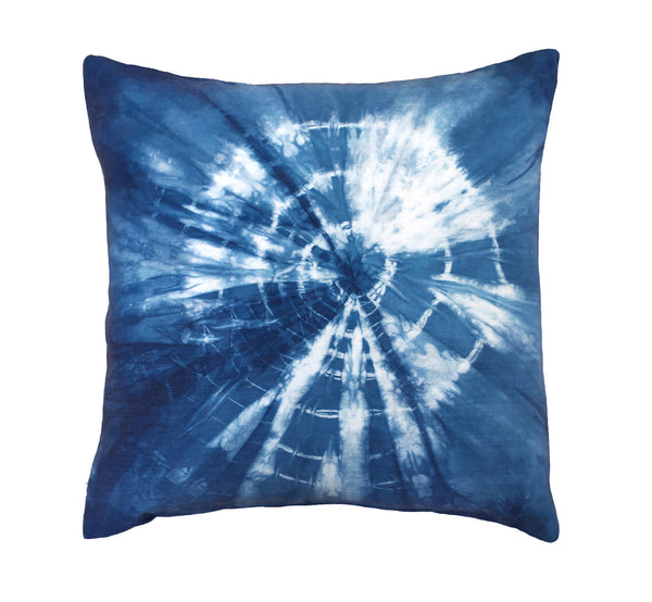 Indigo Shibori Peacemaker Pillow