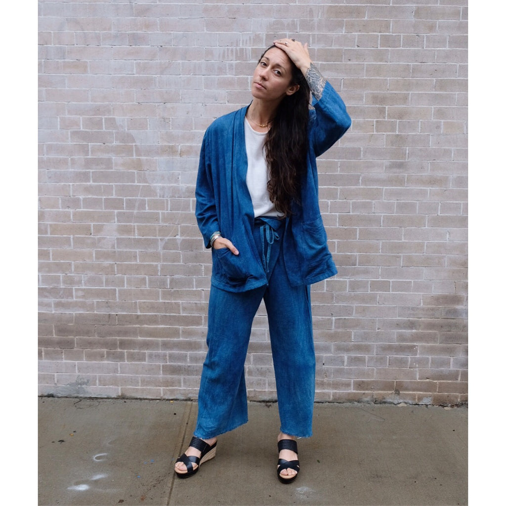 Indigo Jacket & Pant Set