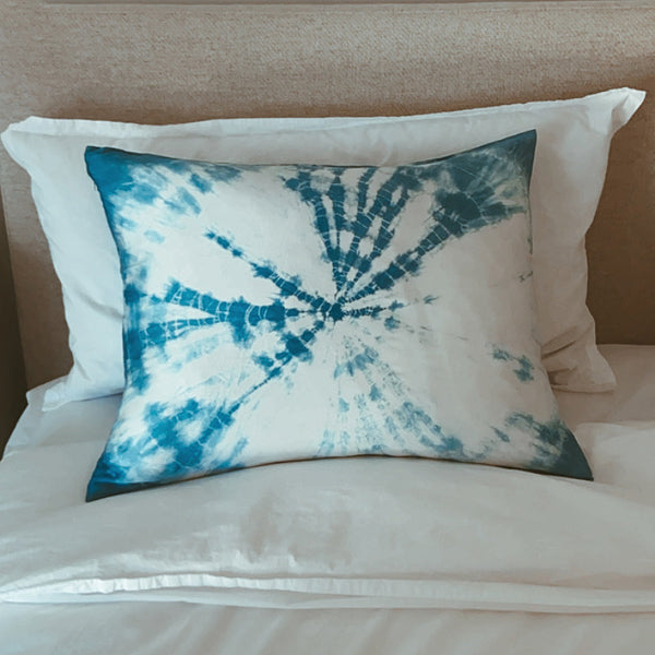 Indigo Burst Silk Pillowcase