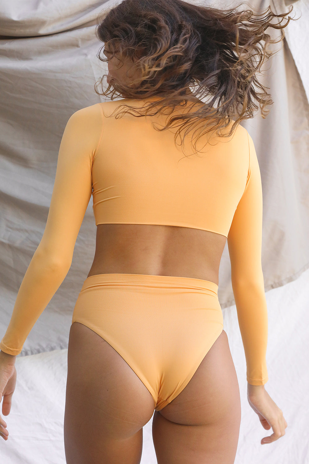 Toast Swim Signature High Waist Bottom in Gold Earth- PRESALE