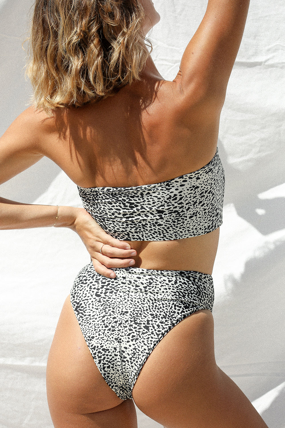 Stone Fox Swim Sumatra Bottom in Snow Leopard