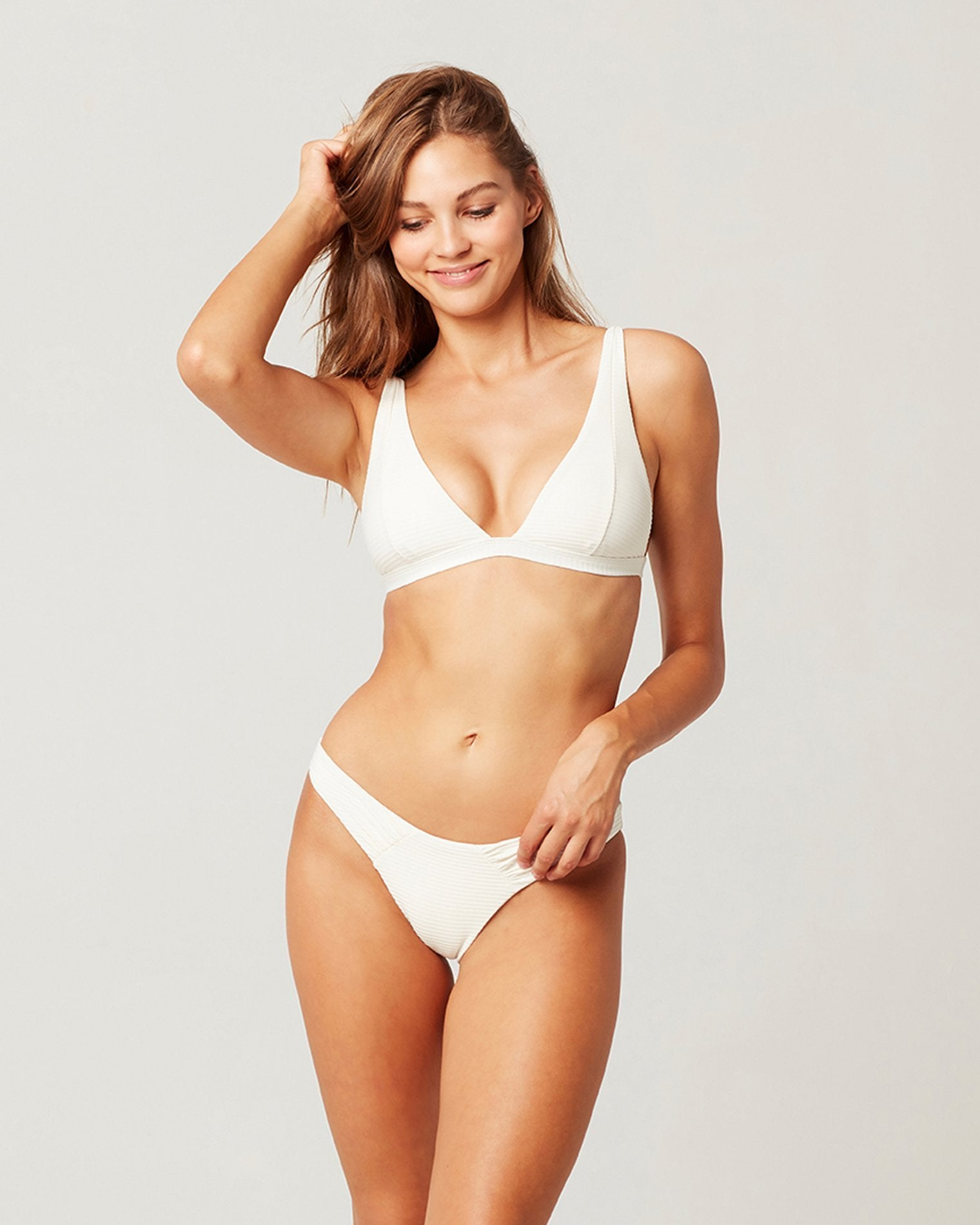 L*Space Eco Chic Repreve® Nina Top in Cream