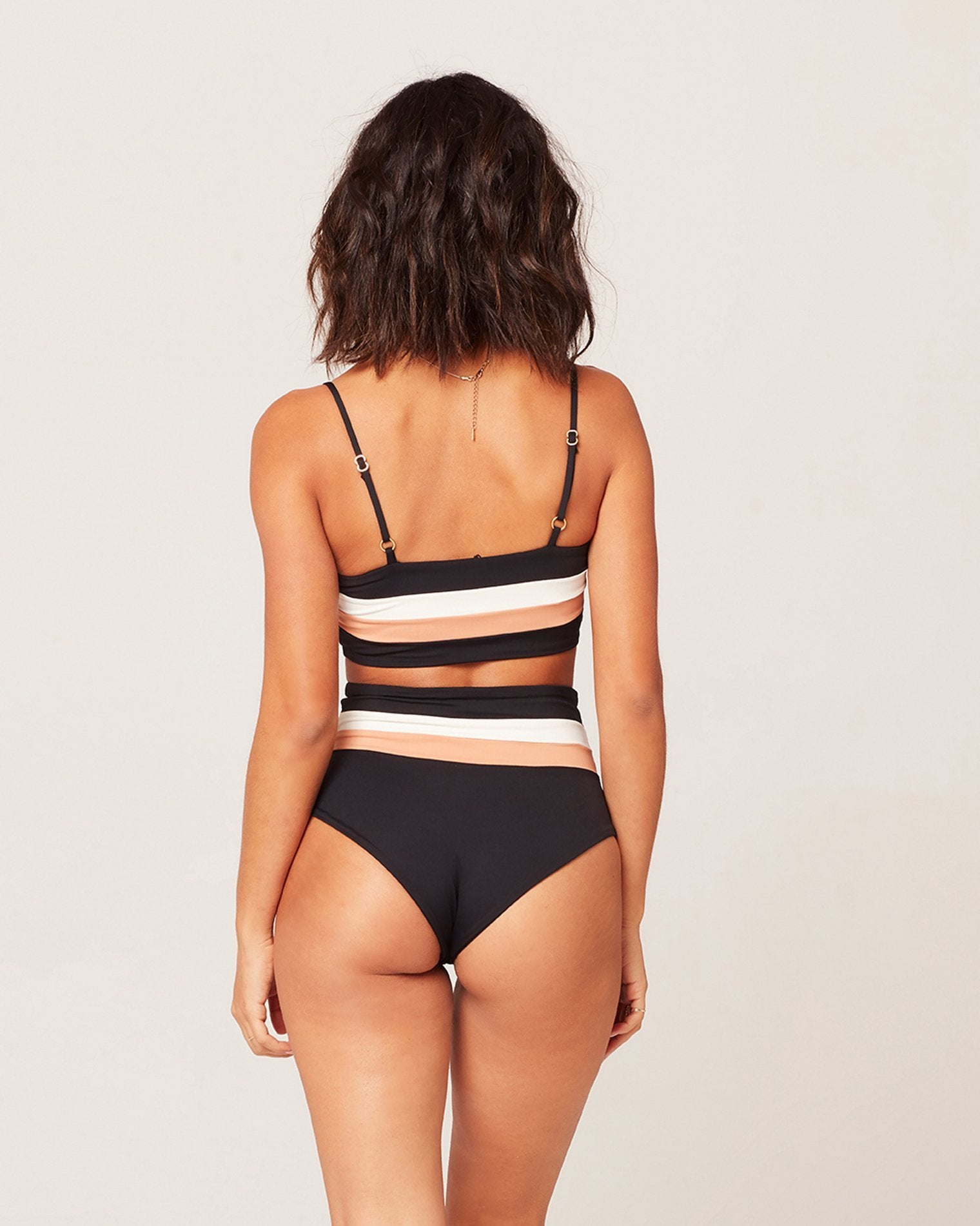 L*Space Rebel Stripe Bikini Top