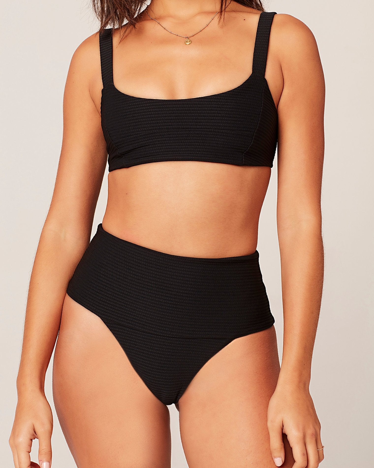 L*Space Eco Chic Repreve® Jess Top in Black
