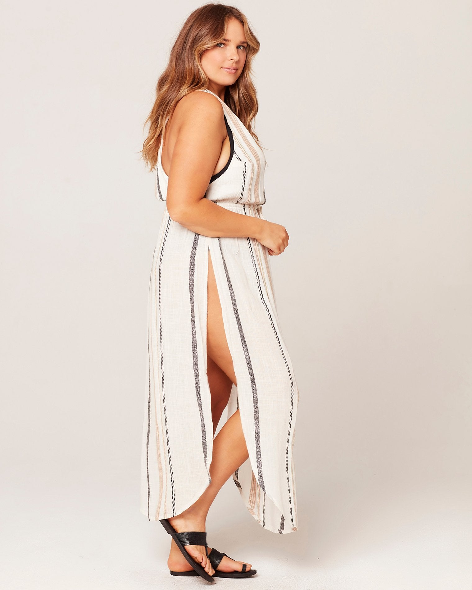 L*Space Kenzie Cover-Up in El Camino Stripe