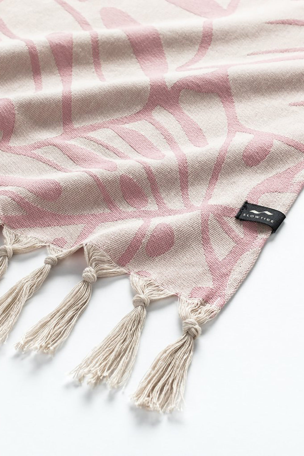 Slowtide Turkish Beach Towel in Tarovine Rose