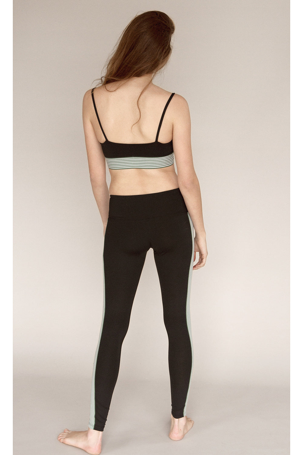 Olympia Activewear Titus Ankle Legging in Jet- Final Sale