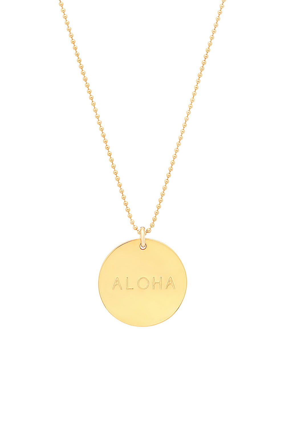 BYCHARI Aloha Charm Necklace in Gold Fill