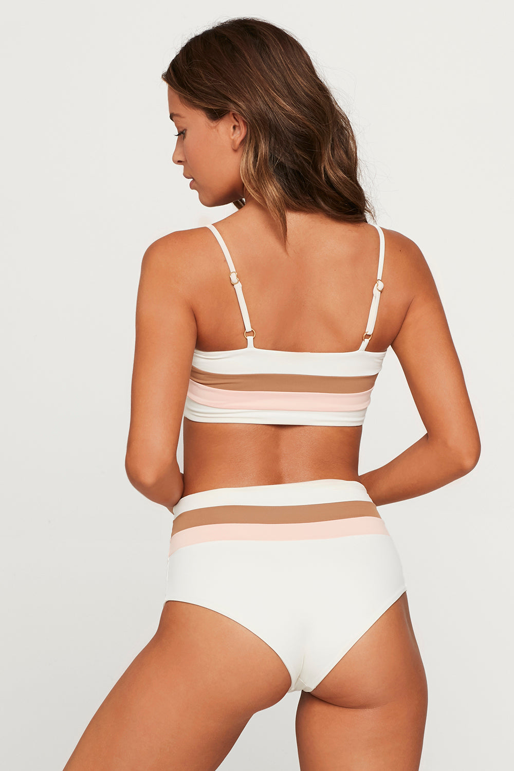 L*Space Portia Stripe Bottom in Cream- Final Sale
