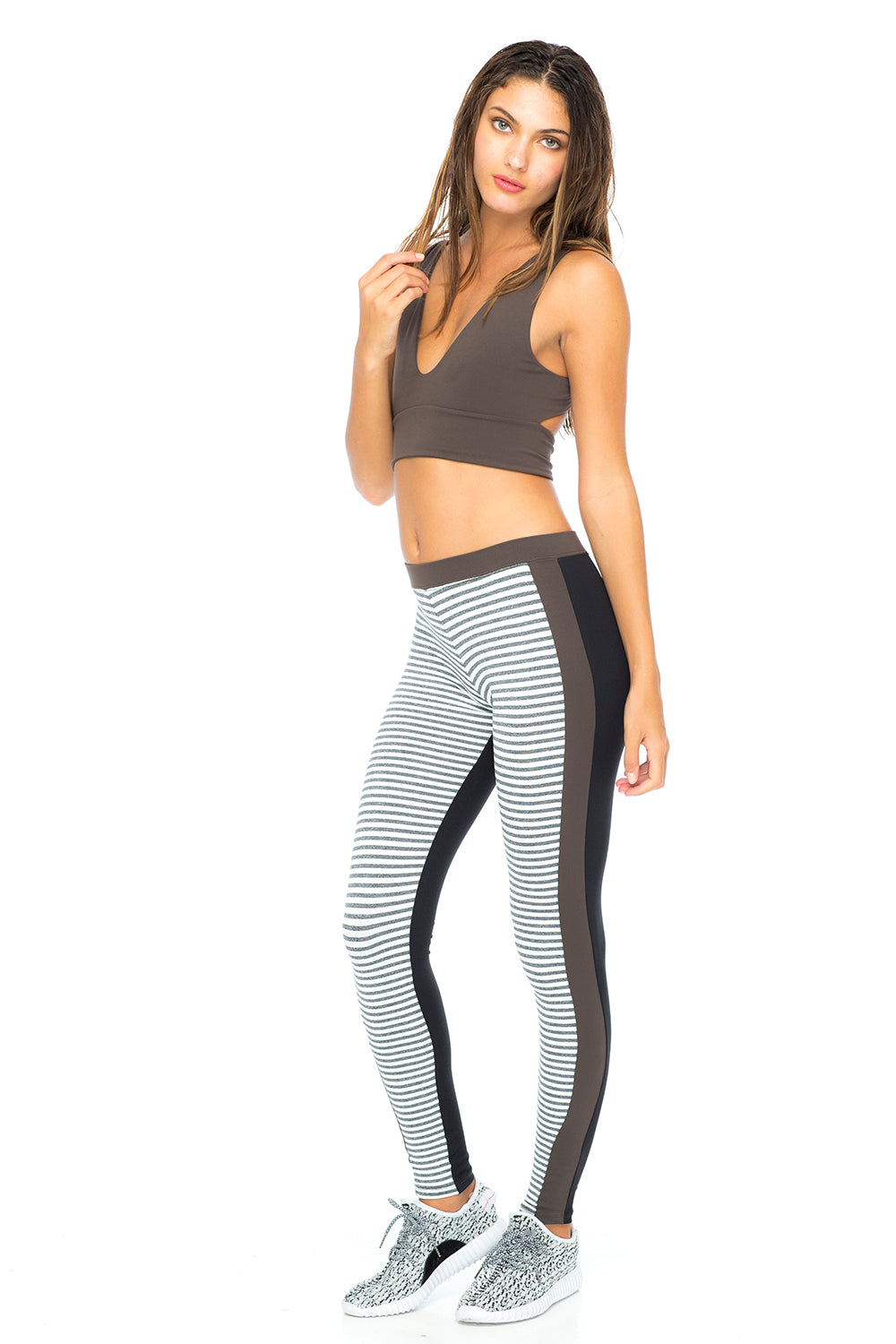 INDAH Galaxy Full Length Legging in Tech Stripe