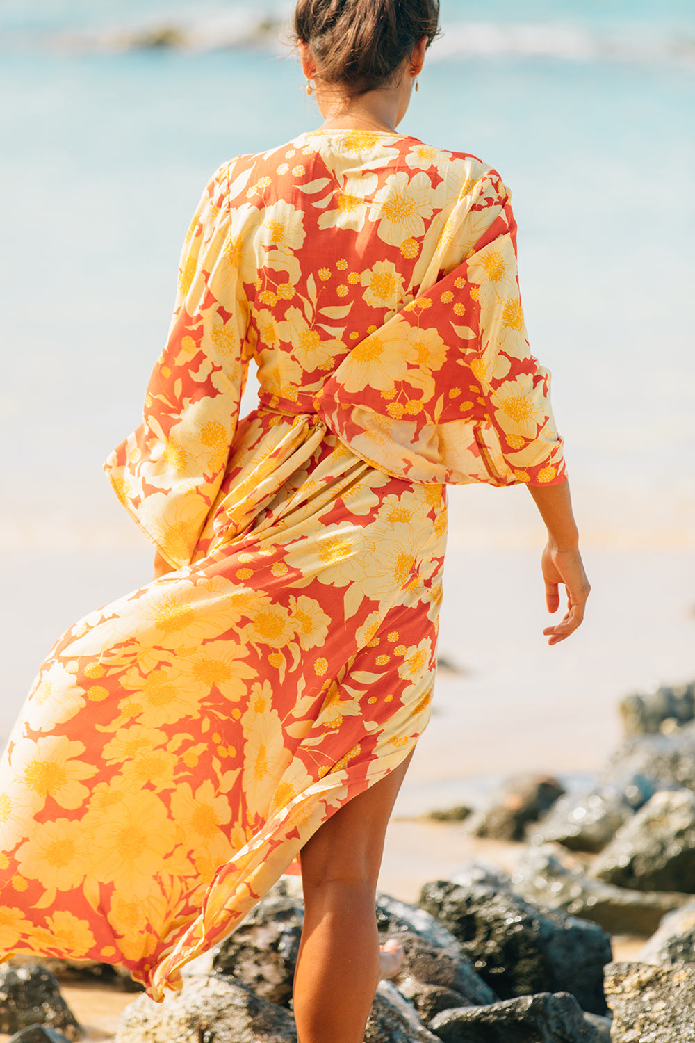 XIX Palms Kimono Dress in Chile