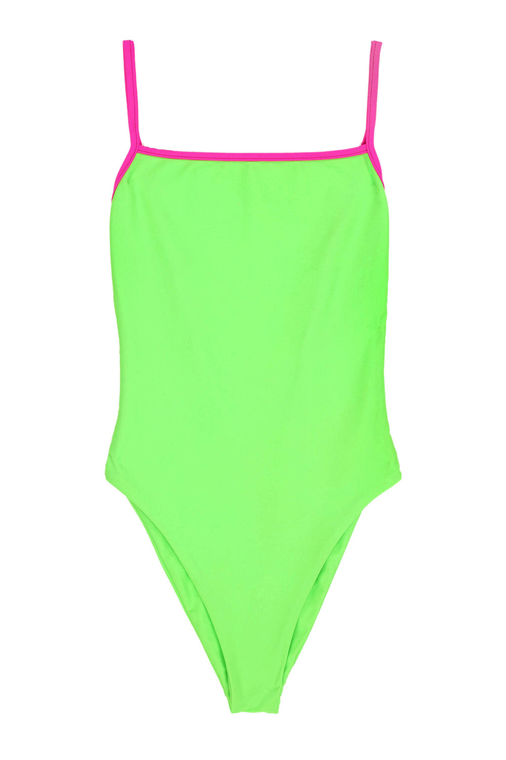 Skin by SAME One Piece in Neon Green/Neon Pink- Final Sale
