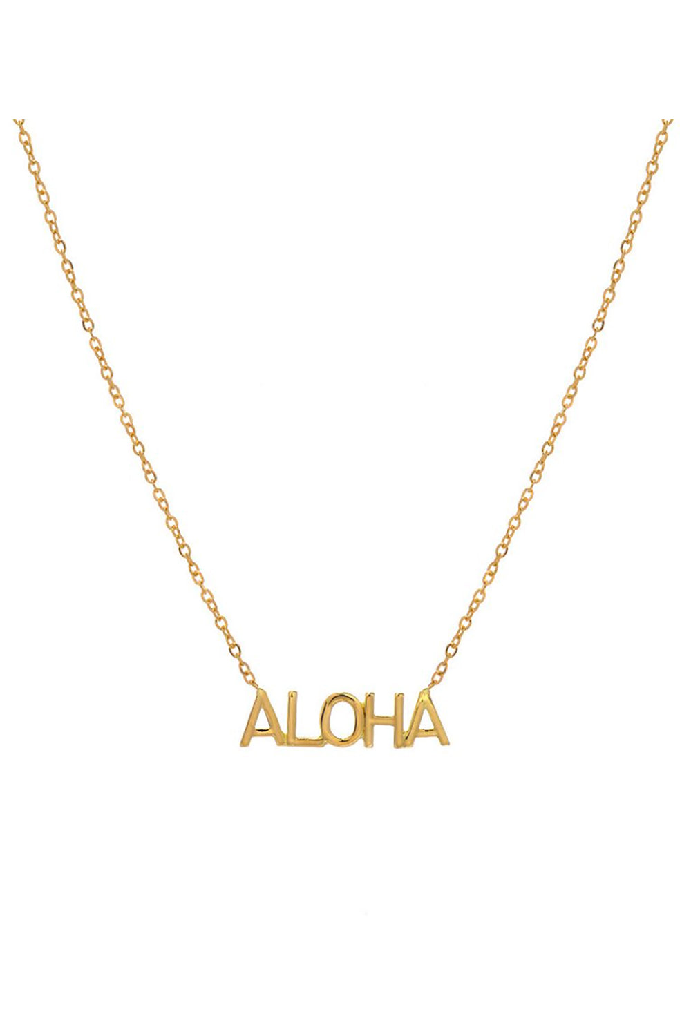 BYCHARI ALOHA Necklace in Gold Fill
