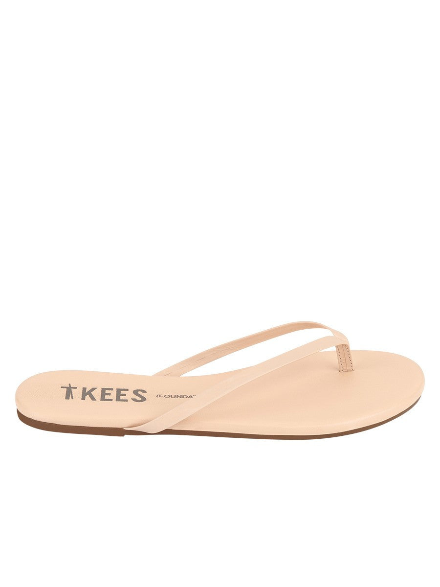 TKEES Foundations Flip Flops in Seashell- Size 9