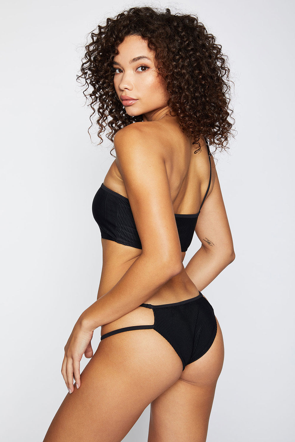 Frankie's Bikinis Jaymi Bottom in Black- Final Sale