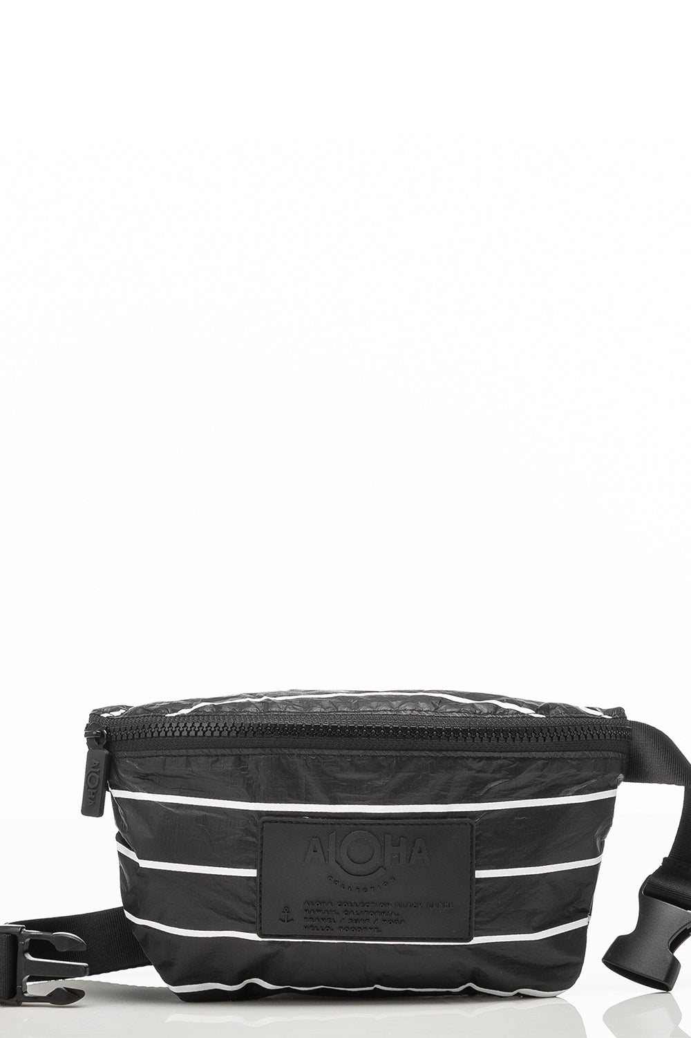 ALOHA Collection Mini Hip Pack in White Pinstripe on Black