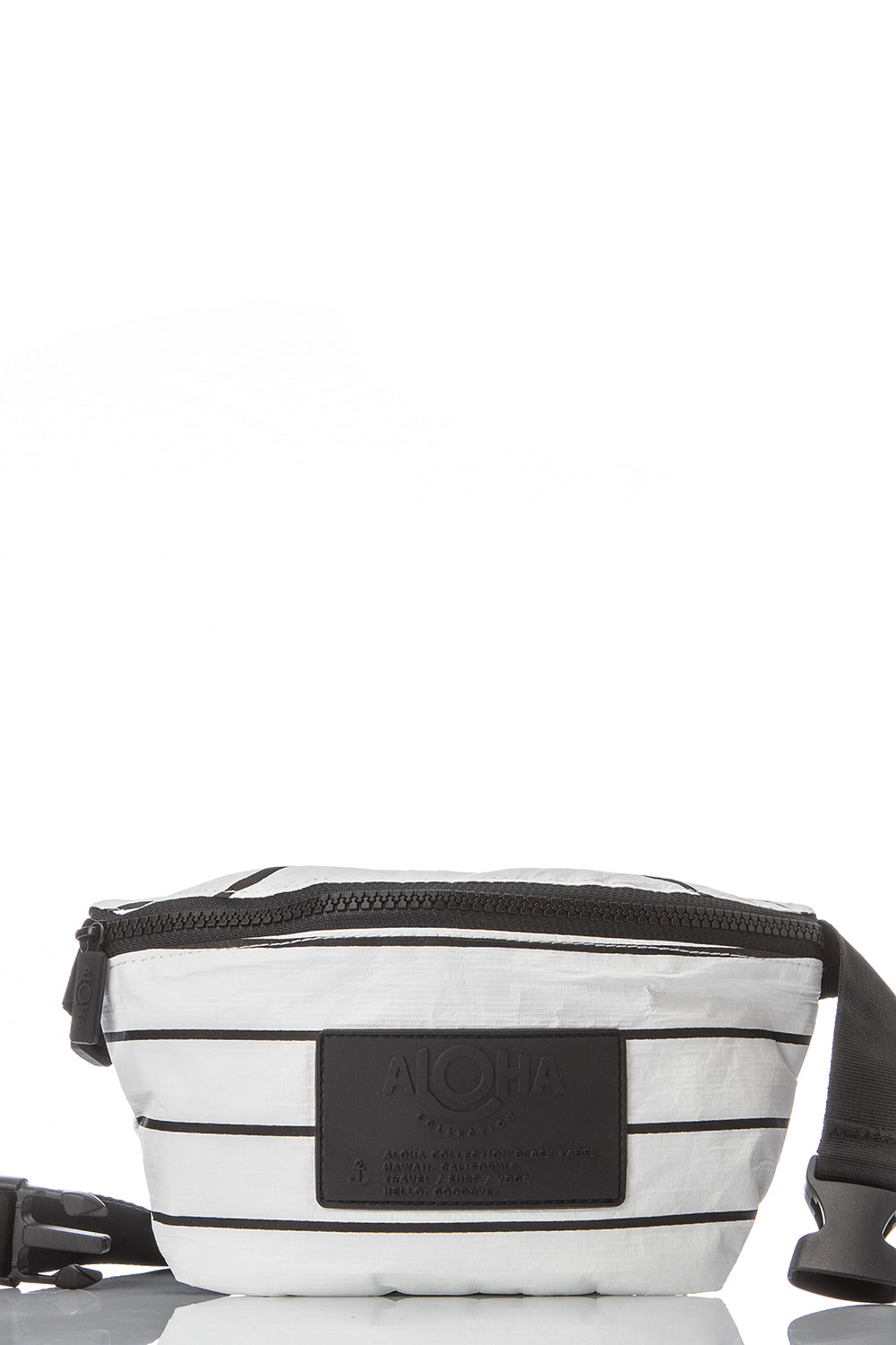 ALOHA Collection Mini Hip Pack in Black Pinstripe on White