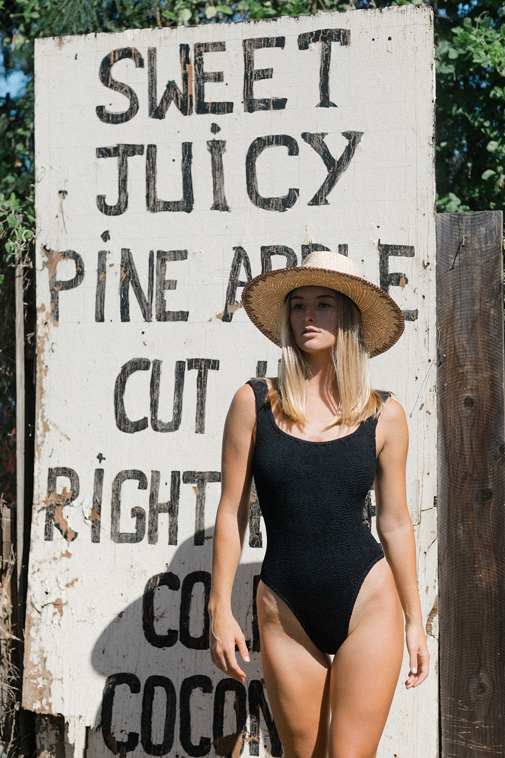 Hunza G Square Neck One Piece in Black
