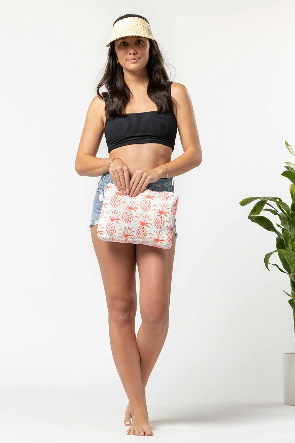 ALOHA Collection Mid Pina Sola Pouch in Neon Coral