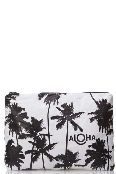88299f52c5 ALOHA Collection Mid Coco Palms Pouch in Black