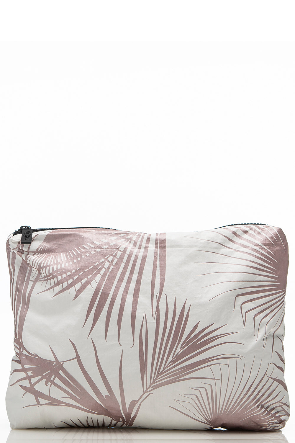 ALOHA Collection Mid Day Palms Pouch in Rose Gold