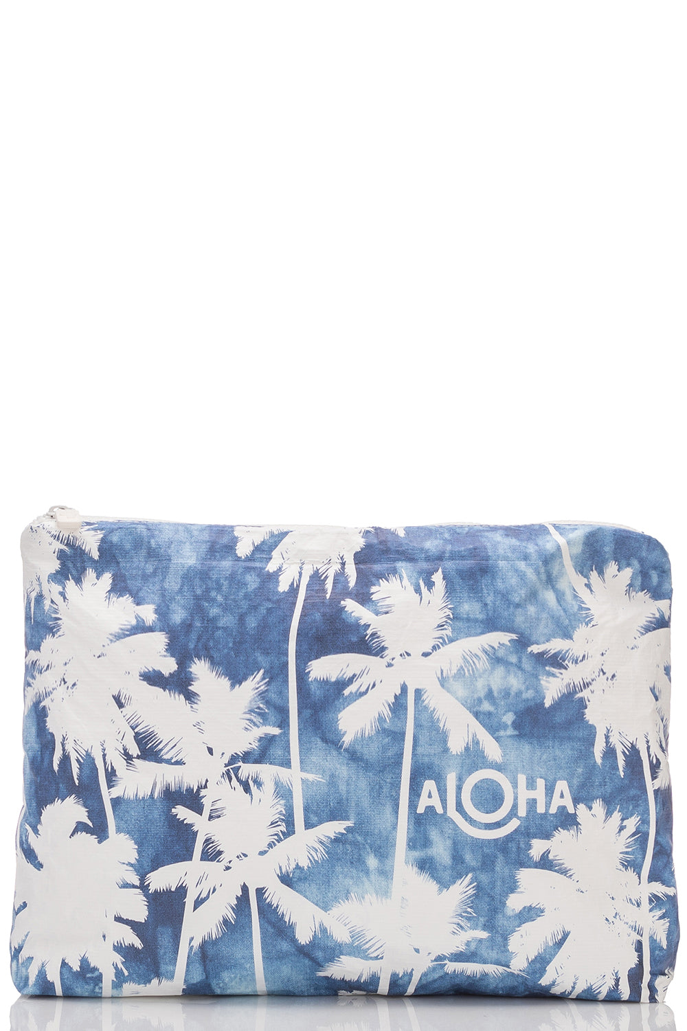 ALOHA Collection Mid Coco Palms Pouch in Indigo