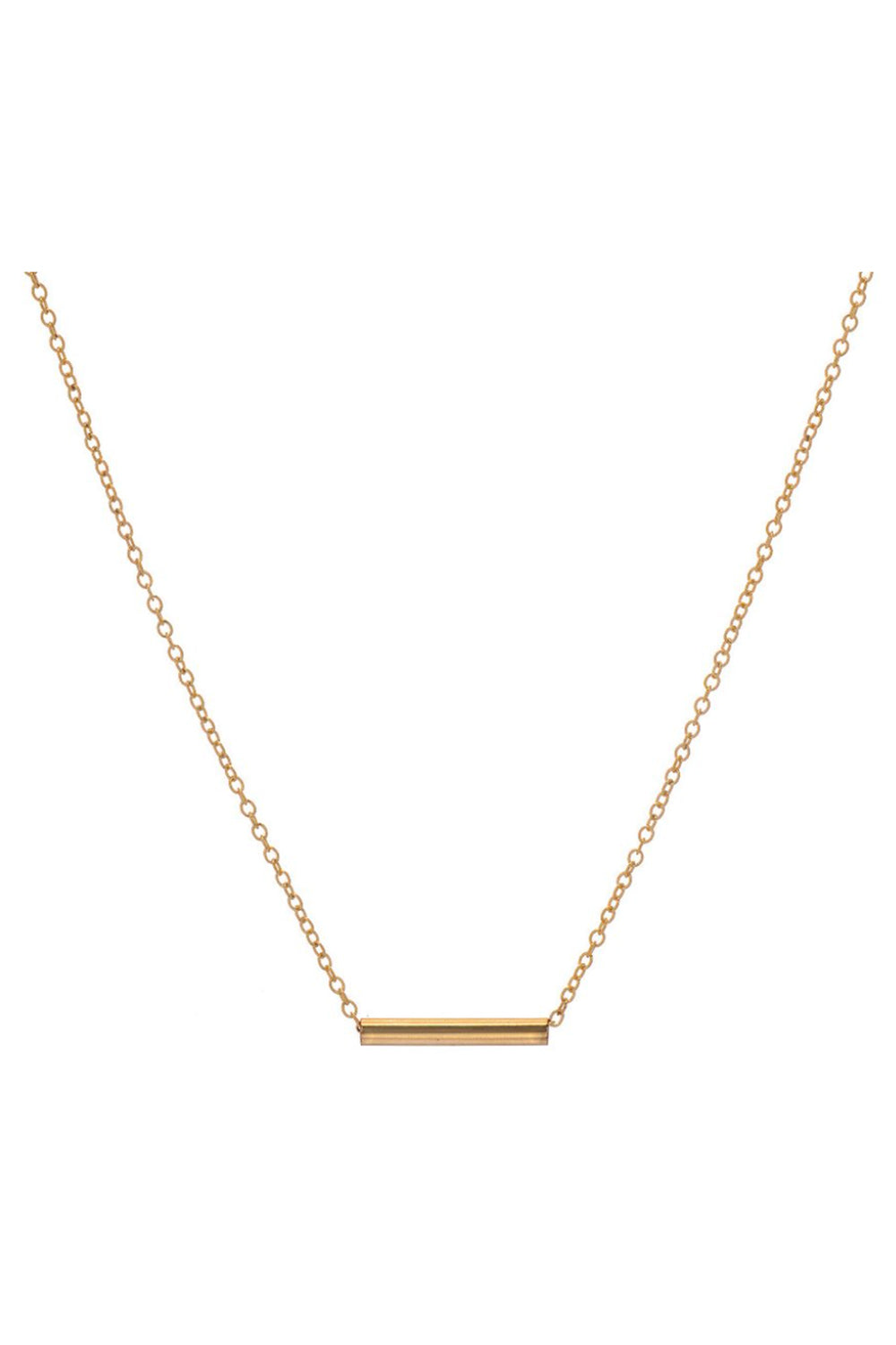 BYCHARI Pipeline Necklace in Gold Fill