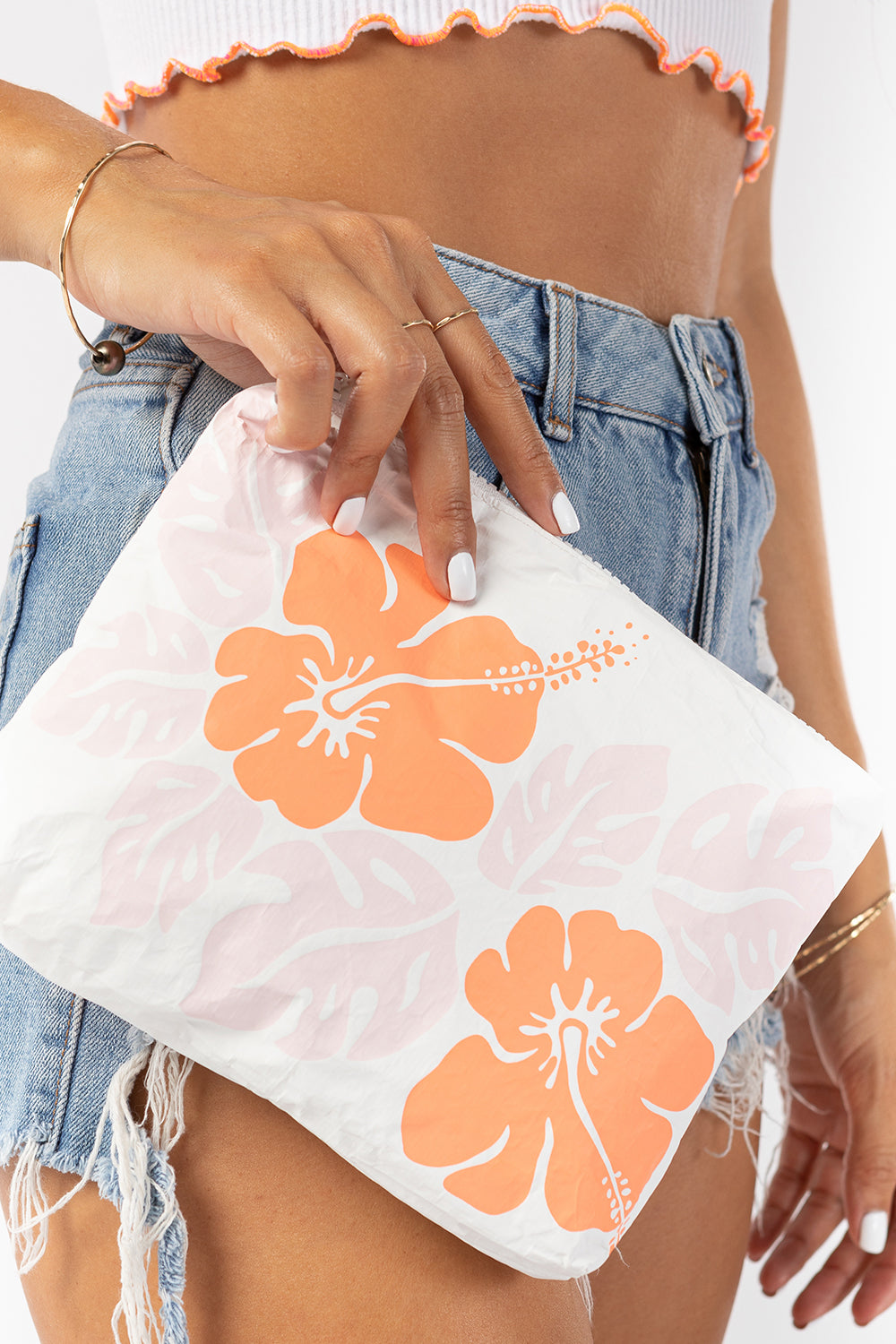 ALOHA Collection Small Big Island Hibiscus Pouch