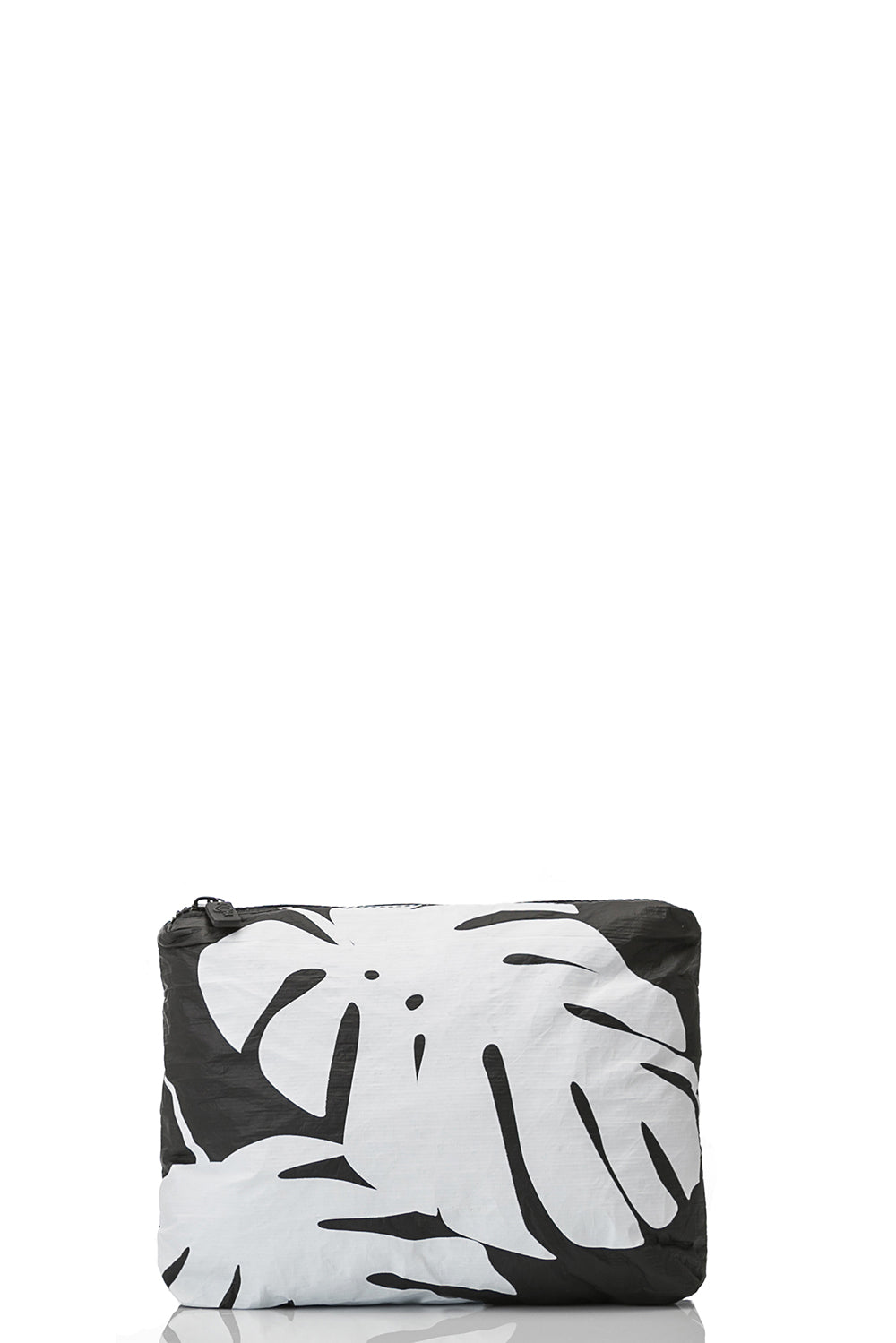 ALOHA Collection Small Monstera White on Black