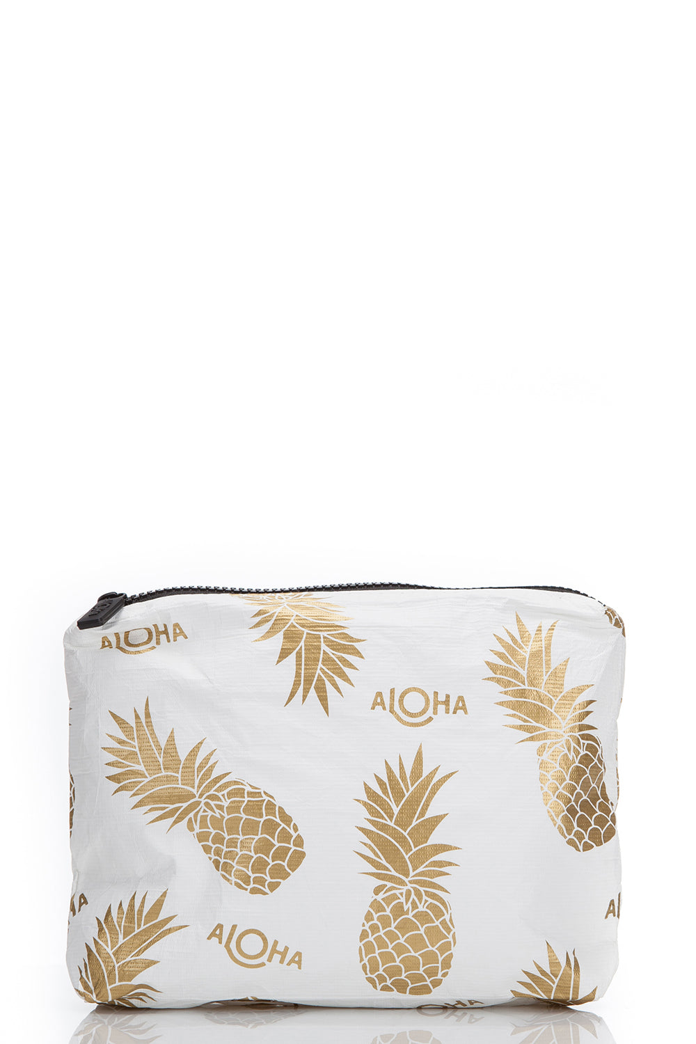 ALOHA Collection Small Pineapple Fields Pouch in White/Gold