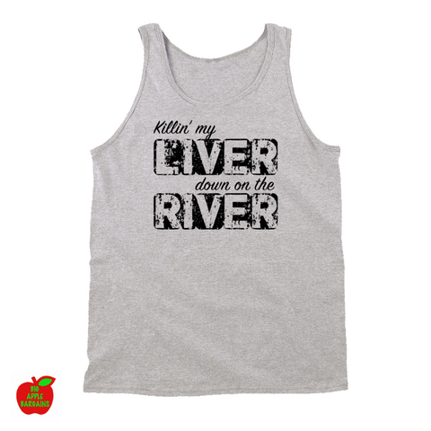 Killin' My Liver Down On The River (TANKTOP) ㋡ Big Apple Bargains - 1