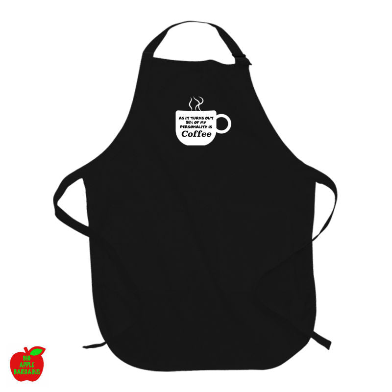 AS IT TURNS OUT 94% OF MY PERSONALITY IS COFFEE (Black Apron) ㋡ Big Apple Bargains
