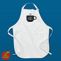 94% OF MY PERSONALITY IS COFFEE (White Apron) ㋡ Big Apple Bargains