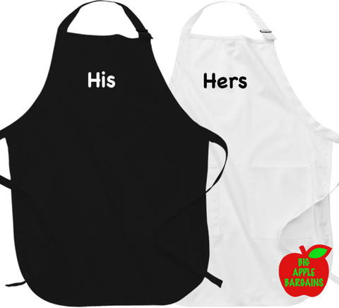 His & Hers (Apron) ㋡ Big Apple Bargains - 1