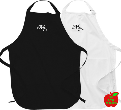 Mr. & Mrs. (Apron) ㋡ Big Apple Bargains - 1