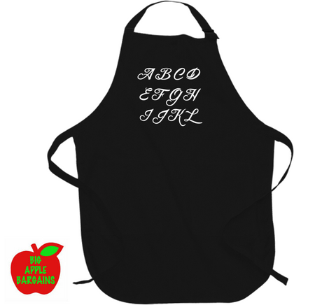 CUSTOM ORDER - MONOGRAM (Aprons) ㋡ Big Apple Bargains